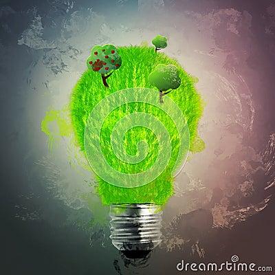 Green grass bulb