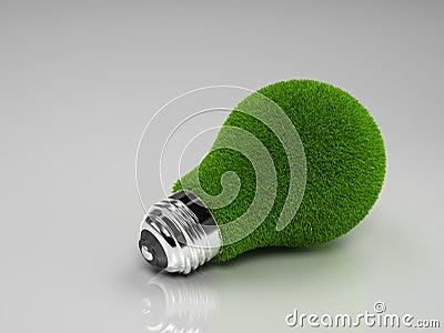 Green Grass Light Bulb