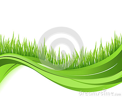 Green grass nature wave background