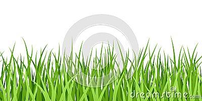 Green Grass. Seamless illustration.