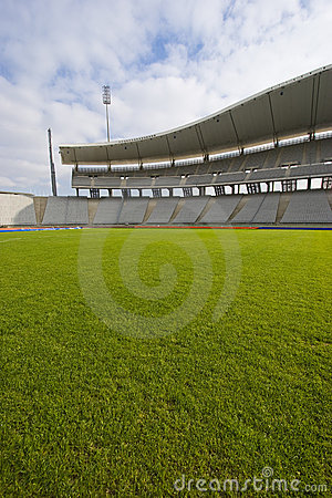 Green Grass and The Stadium