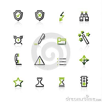Free Green-gray Contour Admin Icons Stock Photo - 3816210
