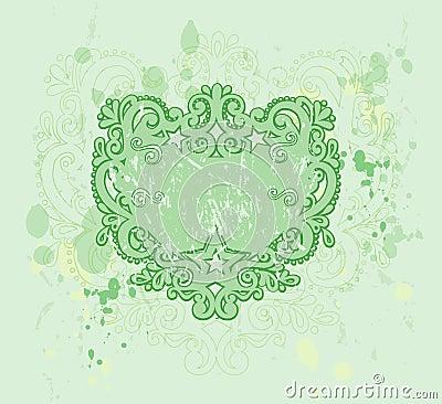 Green Grunge Crest