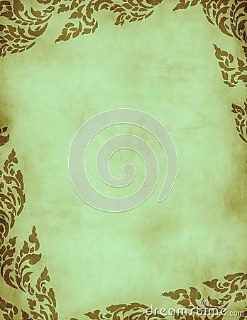 Free Green Grunge Floral Frame Stock Image - 1941471