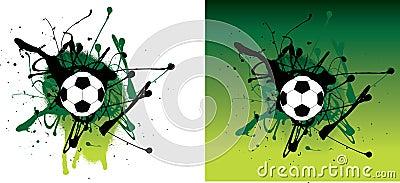 Green grunge football