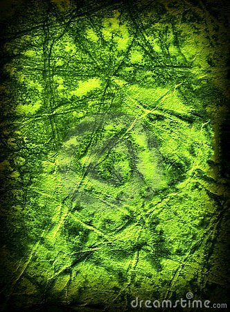 Green grunge old paper texture.