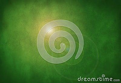 Green grunge stone texture background sun flare