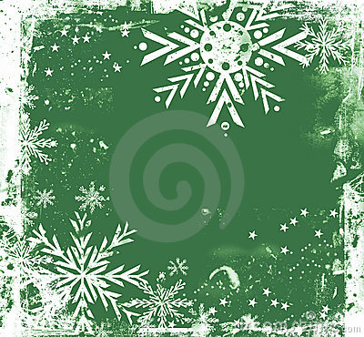 Green grungy Christmas border