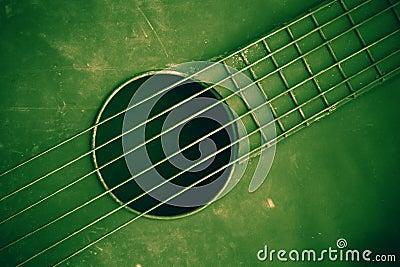 Green guitar background
