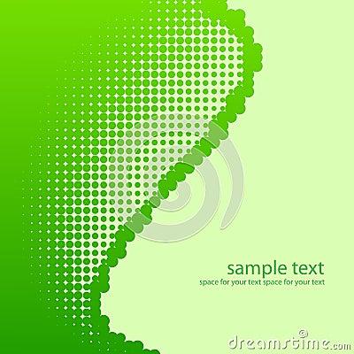 Green half-tone background.
