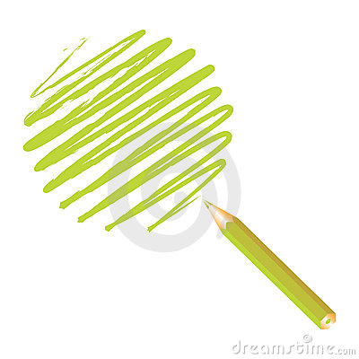 Green handwritten sphere