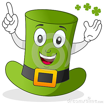 Green Hat Cartoon Character