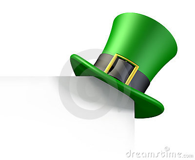 Green hat of a leprechaun