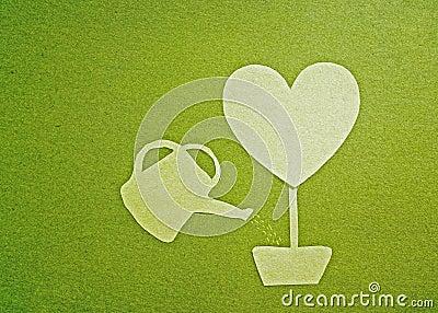 Green heart tree