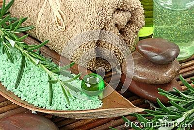 Green herbal spa