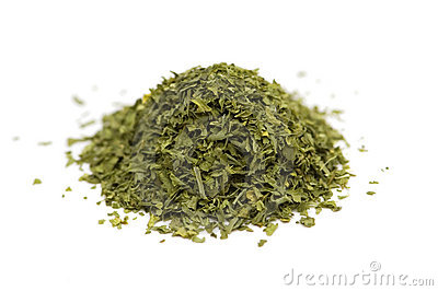 Green herbs isolated