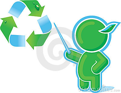 Green Hero with Recycle Symbol