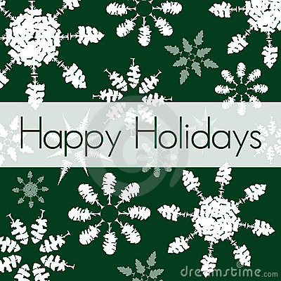 Green Holiday Card