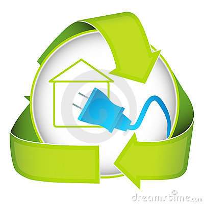 More similar stock images of ` Green Home Electricity Icon `
