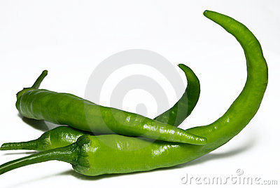 Green Hot Chili Peppers