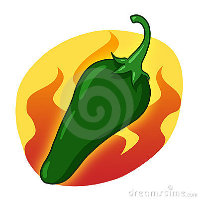 Green hot pepper illustration