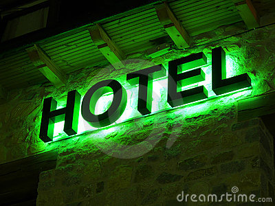 Green hotel advertisement