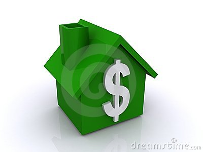 Green house with dollar sign