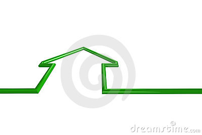 Green house illustration