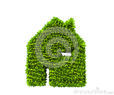 Green house nature symbol