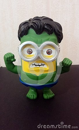 Green Hulk Minion Editorial Stock Photo