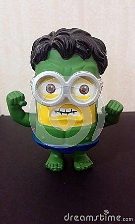 Green Hulk Minion Editorial Stock Photo