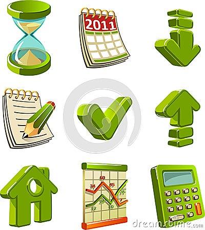 Green icon set
