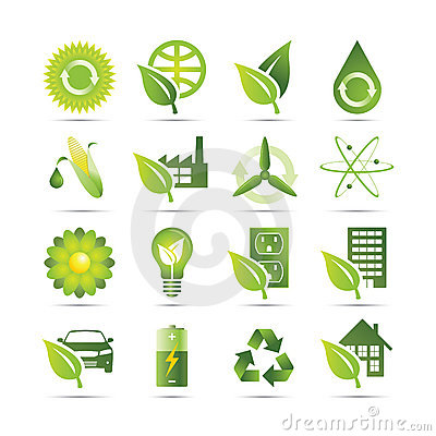 Free Green Icons Royalty Free Stock Image - 13115836