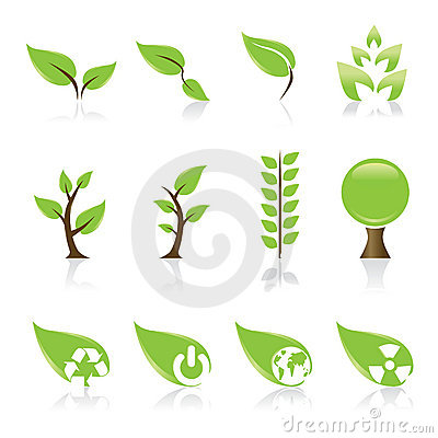 Free Green Icons Stock Images - 4992614