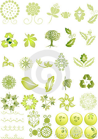 Free Green Icons And Graphics Royalty Free Stock Photo - 5225965