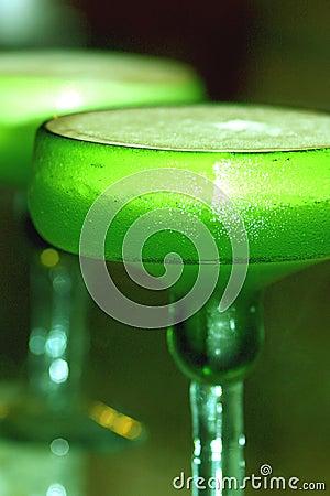 Green Iguana Margarita Stock Photo