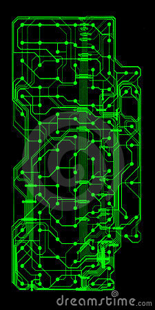 Green illustrated circuit board