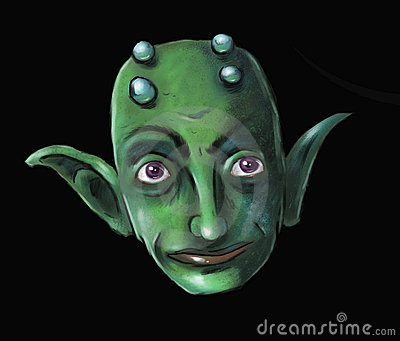 Green Imp Face