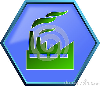 Green Industry Icon Stock Illustration - Image: 82074184