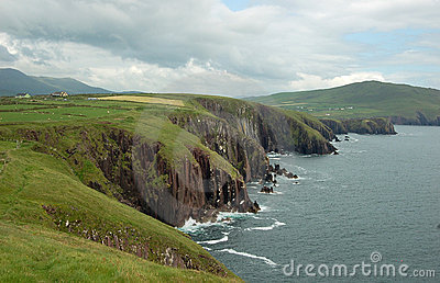 Green irish landscape dingle