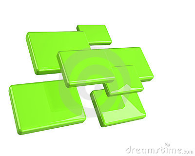Green isolated rectangles