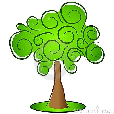 Green Isolated Tree Clipart