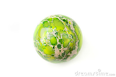 Green jasper sphere