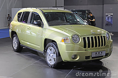 Green jeep compass suv Editorial Photography