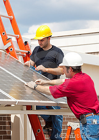 Free Green Jobs - Solar Energy Royalty Free Stock Image - 9349666