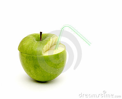 Green juicy apple