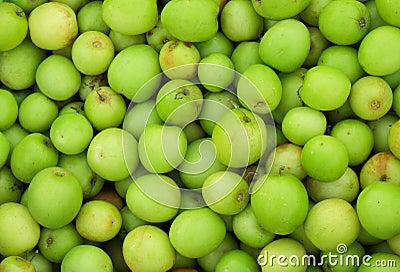 Green jujube fruit