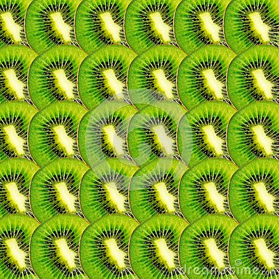 Free Green Kiwi Fruit Slices Texture Stock Photography - 111909442