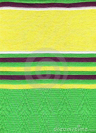 Green knitting cloth