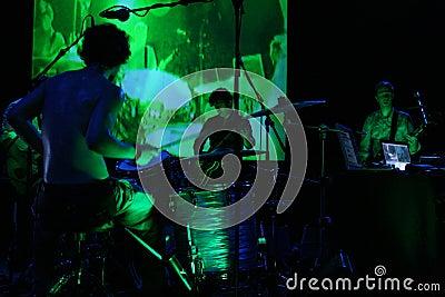 Green koncertowa Zdjęcie Editorial